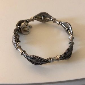 Alex and ani braided silver bracelet